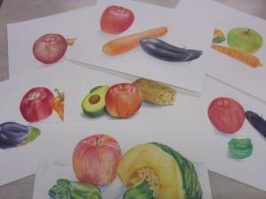 色鉛筆野菜果物