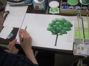 樹木を描く1