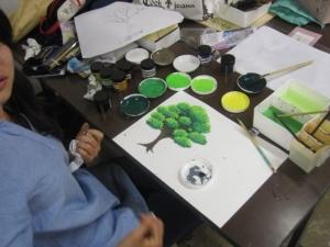 アニメの木を描く