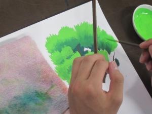 アニメ背景の木を描く