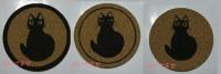 コルクコースター黒猫3種 ブログ用