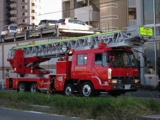 中はしご車 はしご付消防自動車(50m)
