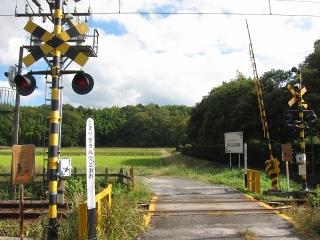 伊賀鉄道 踏切