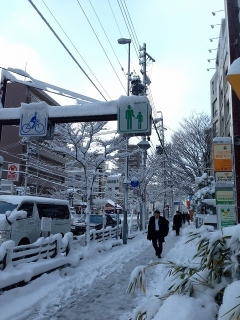 18日 雪の名古屋