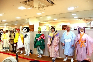 西武岡崎店 おめでとう!オカザえもんと七福神が新年のごあいさつ