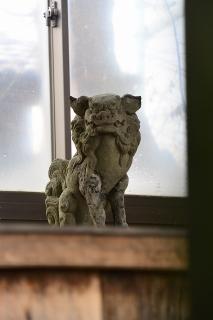八釼社の狛犬