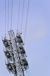 中部電力 沖之島変電所 稲沢沖之島線鉄塔 第二四号 ソメコ050 中部電力株式会社 平成六年六月建設