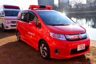 平成27年 岡崎市消防出初式 南広報車