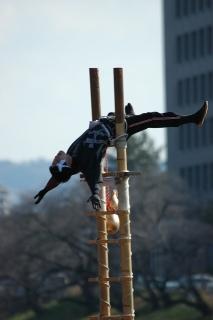 平成27年 岡崎市消防出初式 伝統のはしご乗り