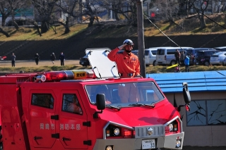 平成27年 岡崎市消防出初式 分列行進