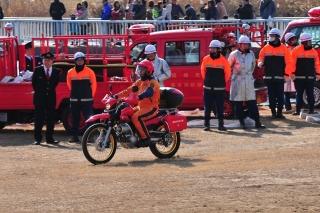 平成27年 岡崎市消防出初式 消防訓練展示 消防二輪車