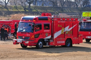 平成27年 岡崎市消防出初式 消防訓練展示 救助工作車