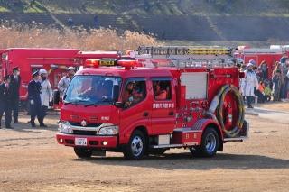 平成27年 岡崎市消防出初式 消防訓練展示 消防ポンプ自動車