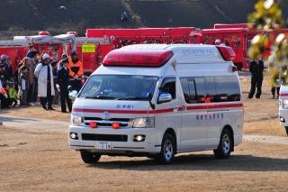平成27年 岡崎市消防出初式 消防訓練展示 高規格救急自動車