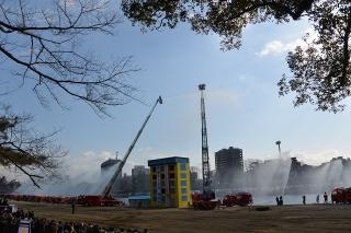 平成27年 岡崎市消防出初式 一斉放水