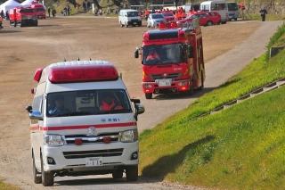 平成27年 岡崎市消防出初式 撤収風景 高規格救急自動車