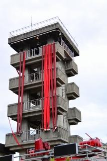 岡崎消防本部・中消防署本署 訓練塔