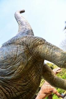 岡崎市東公園 恐竜モニュメント ブラキオサウルス