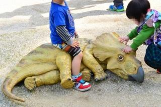 岡崎市東公園 恐竜モニュメント トリケラトプス