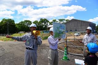 水道週間 新男川浄水場建設工事現場見学