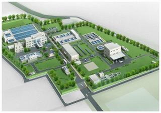 新男川浄水場完成予想図
