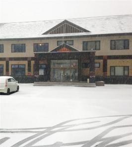 北海道、季節外れの雪6月5日