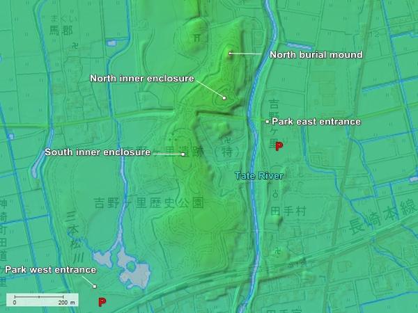 Yoshinogari Site topography