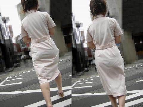 【エロ画像】看護師さん達の透け透けパンチラ画像(16枚)