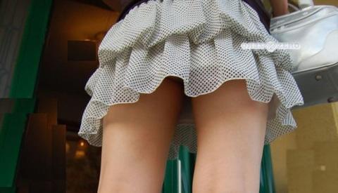 ( ミニスカ 街撮り写真 )過度に短くてパンツを見せるために街へ繰り出したような感じwwwwwwwwww