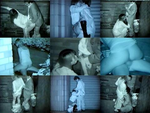 【エロ画像】【盗撮21枚】野外セッ○ス名所の新宿高層ビル近辺でセッ○スしてるカップル達だぁーwww夜でも赤外線カメラで挿入部分までバッチリだぁーwww