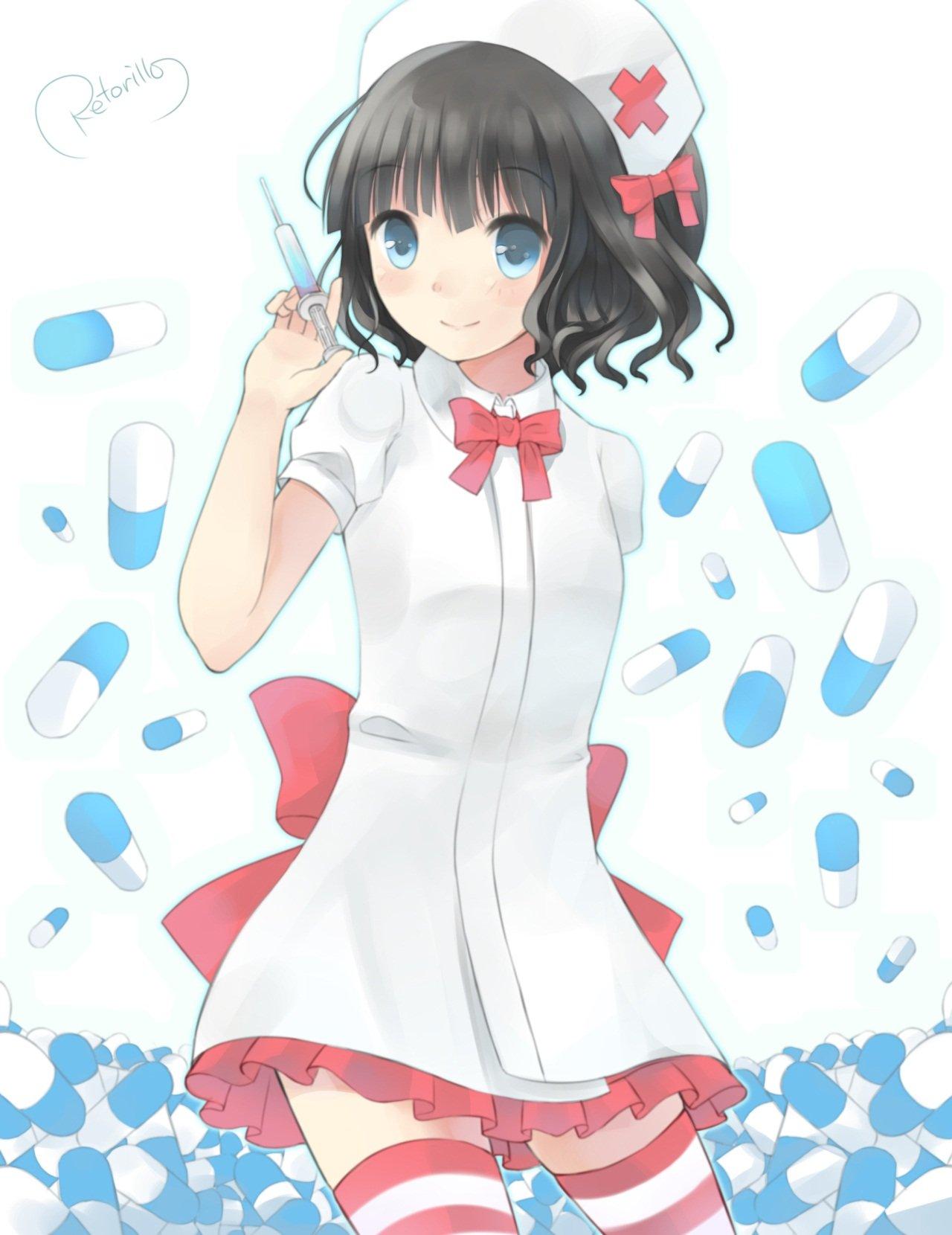 ナース服 | 【ナース】いやらしいカラダに成長した看護婦さんの二次元画像(49枚)