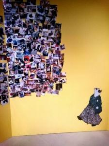 壁の猫写真
