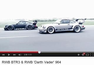 ポルシェ911(Type964) RWB BTR3 & RWB 'Darth Vader' 964