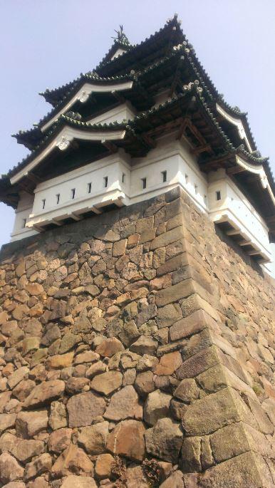弘前城 石垣と天守閣