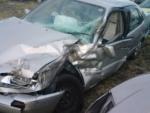 事故車左前面から