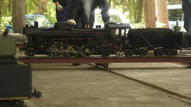 トラバーサで移動するC63