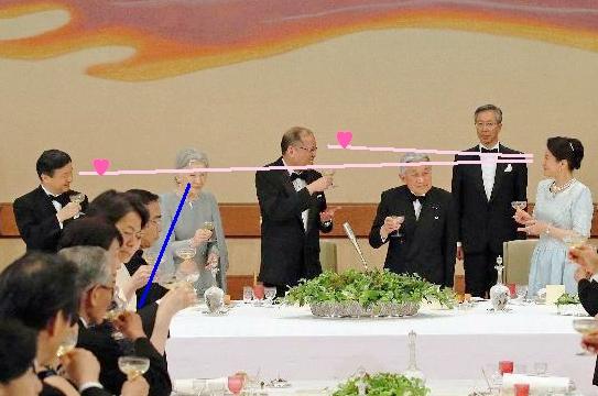フィリピン大統領と皇太子殿下の雅子様への笑顔!