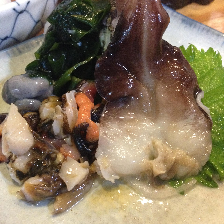 錦山の貝刺
