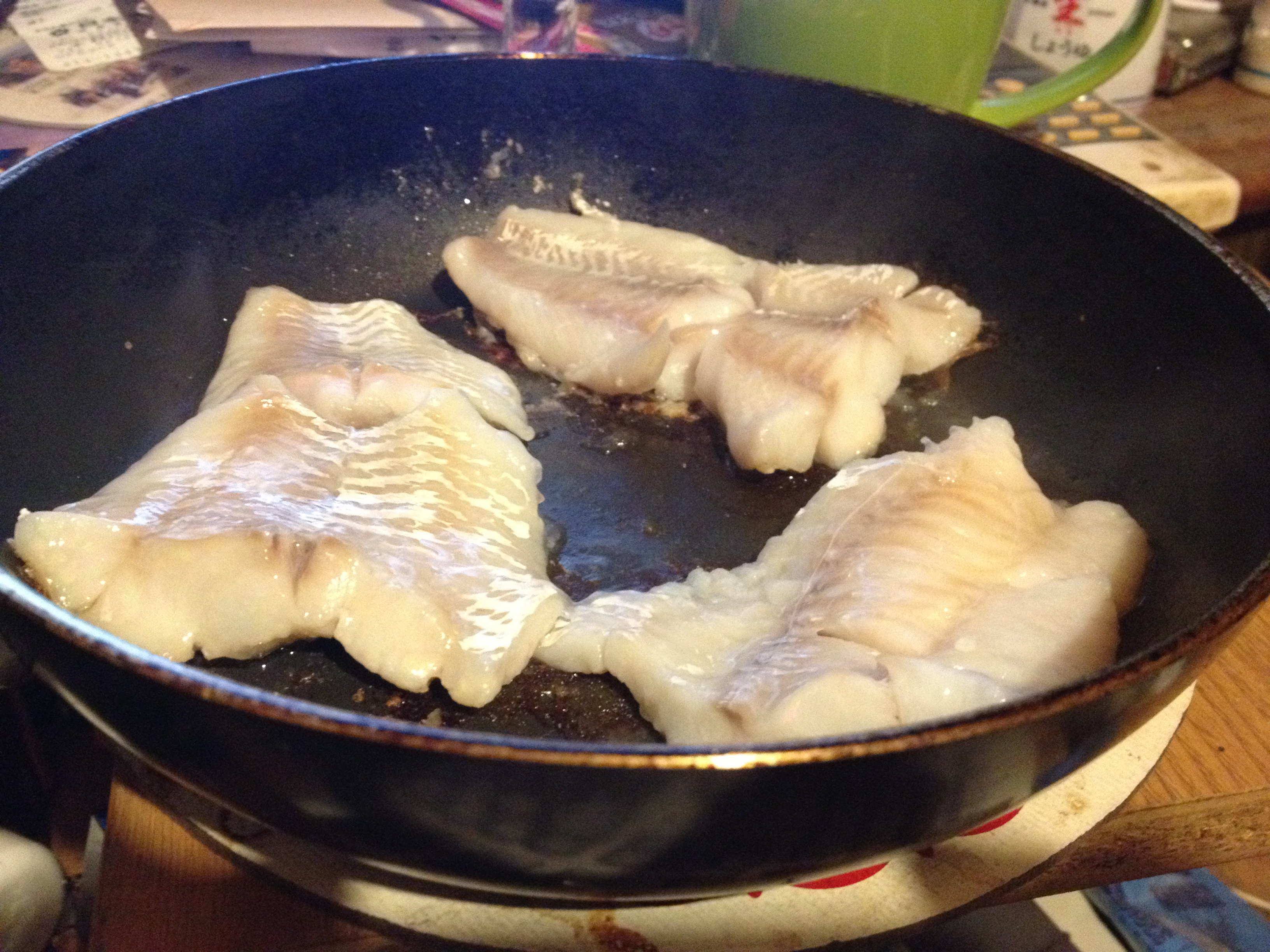 鱈すき身塩麹漬片栗粉焼き