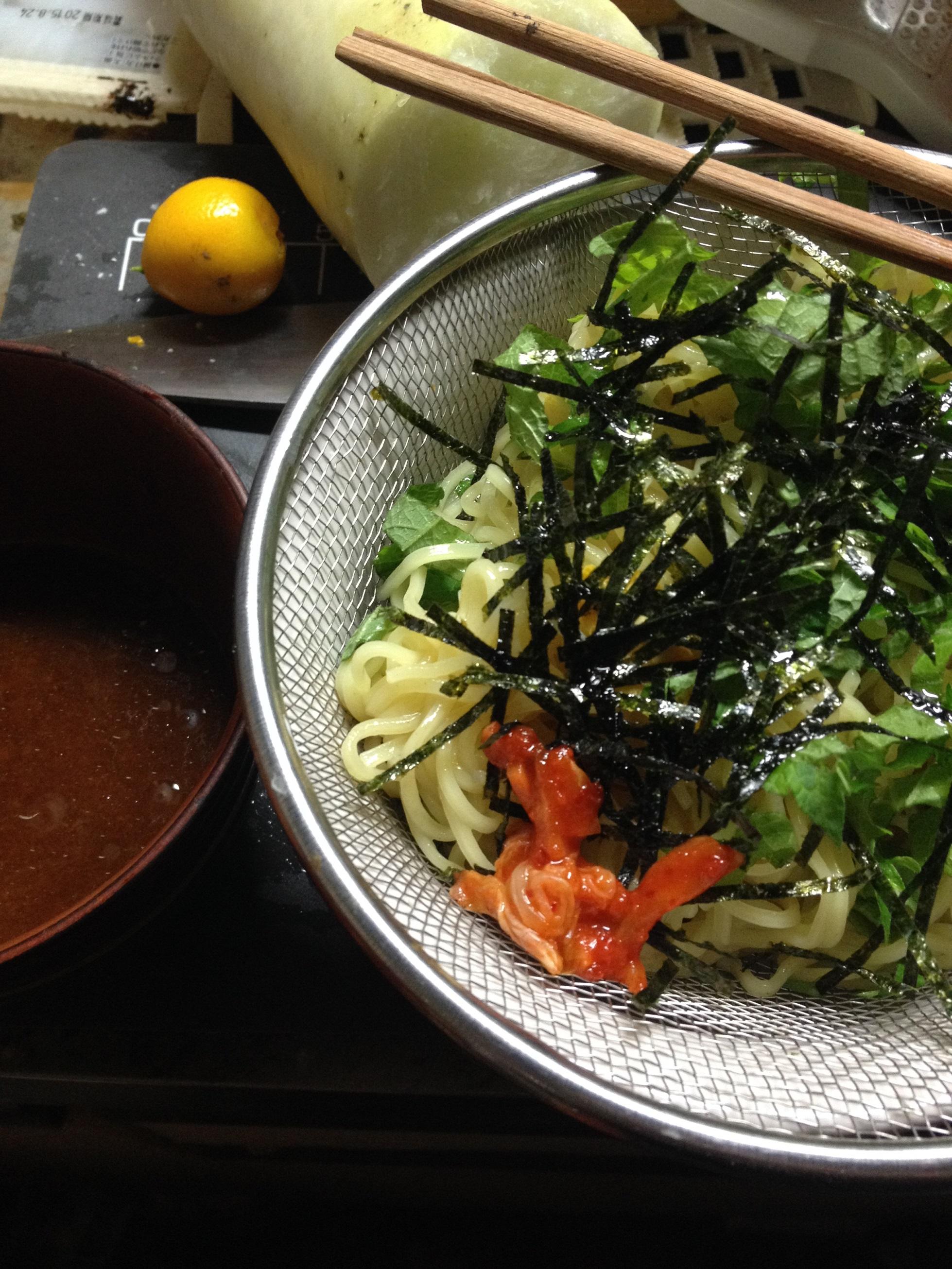 日清ざるつけ麺1回目