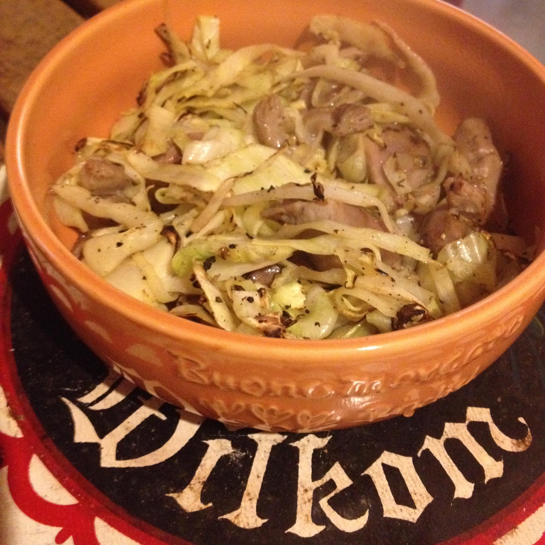 鶏ハツ野菜炒め