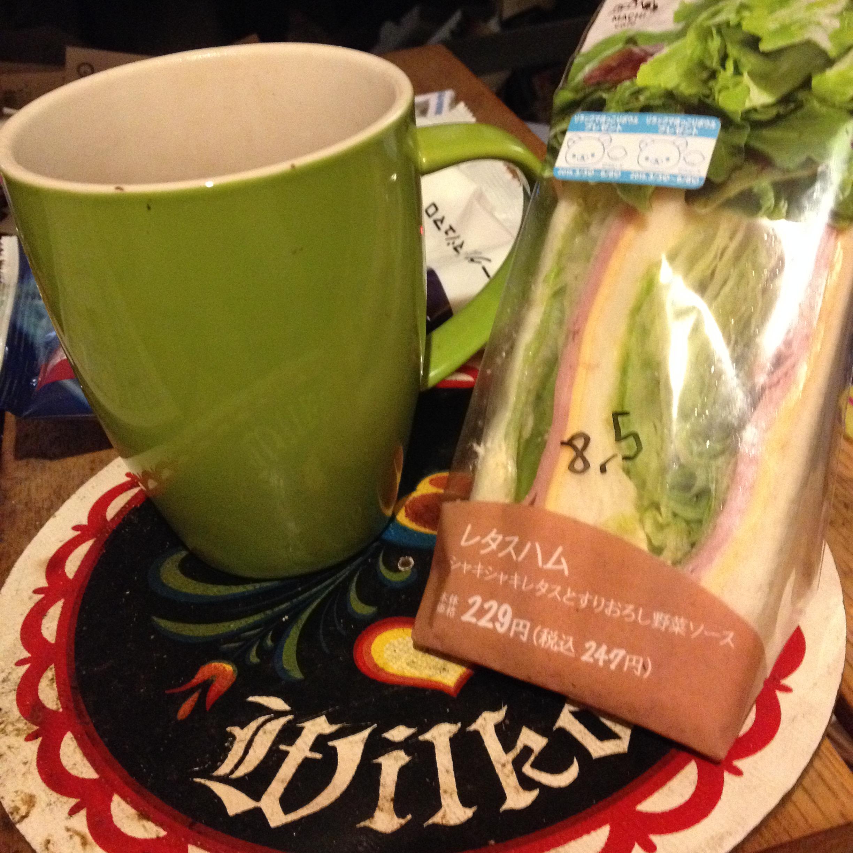 LAWSONのサンドイッチ