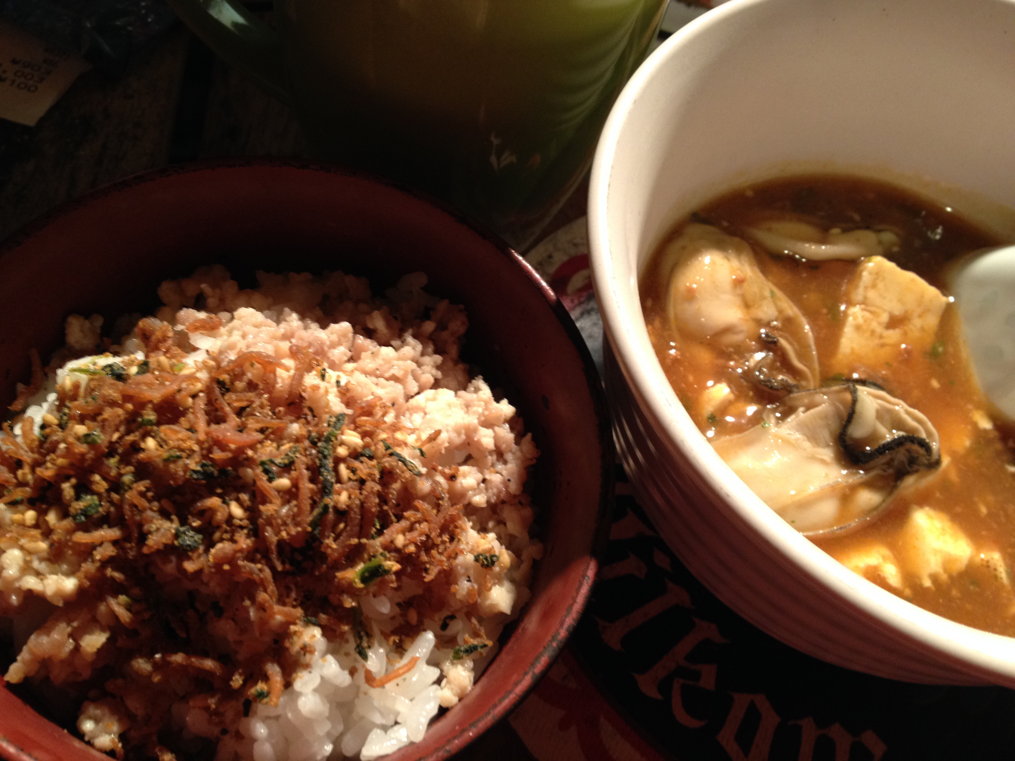 牡蠣麻婆豆腐定食