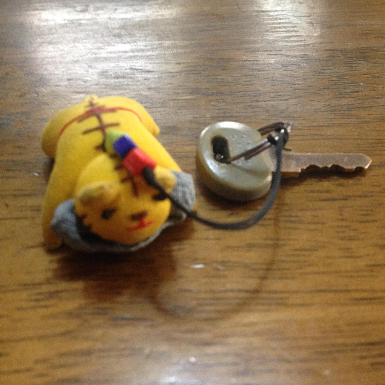 自転車の鍵と虎さん