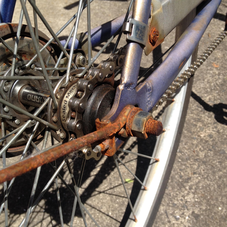 チェーンだけ新品の自転車