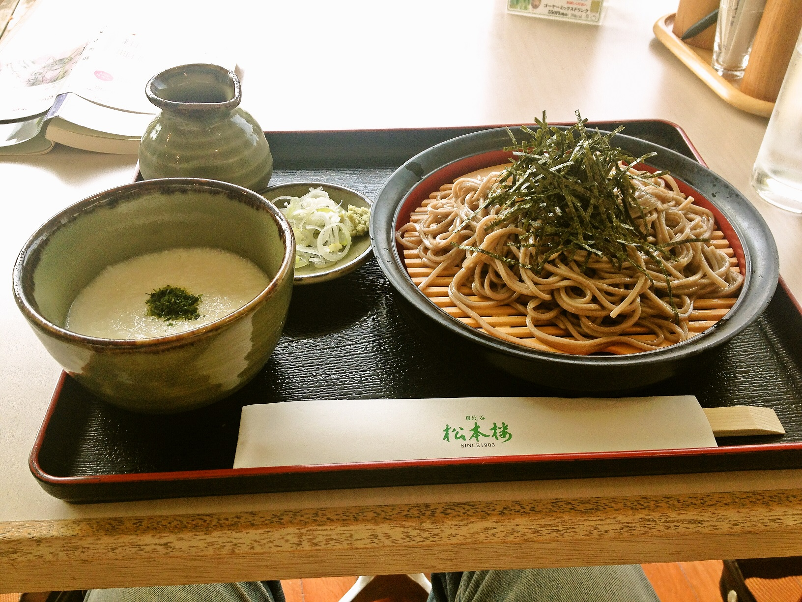 松本楼の薯蕷蕎麦