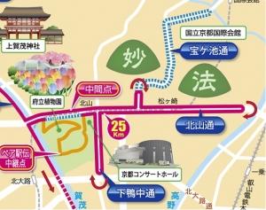 京都マラソン中間地点