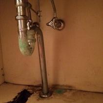 洗面カウンター地袋1