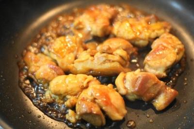ノンオイルで作る鶏もも肉の照り焼き6