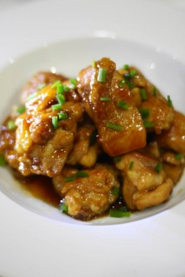 ノンオイルで作る鶏もも肉の照り焼き